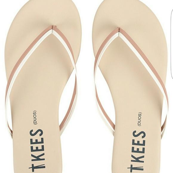 62b872855 TKEES Duos leather flip flop sandals Bare White▫10.  M 5b32b4592e1478e904ed99bd